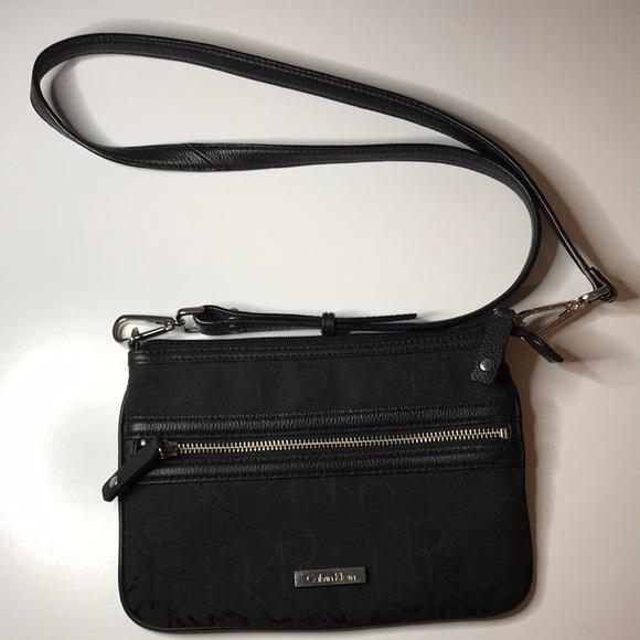 Calvin Klein black crossbody purse